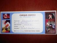 Gift certificate / Le Coin Rond /Massage /Over night Stay