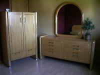 set de chambre en vraie bois D`ORME, Massif de Grande Qualité