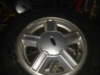 4 Aluminum Rims 5x114 & 4 All Season Tires