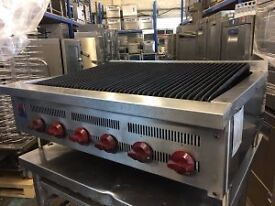 Wolf 6 Burner Chargrill 90 cm vat included , peri peri grill, radiant grill refurbished