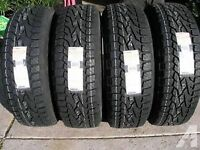 set of new LT 245/70/17 milestar $750