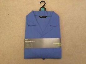 Men's Marks & Spencer Easycare cotton blue Pyjamas set Brand New size M
