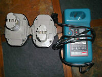 Chargeur Makita neuf dc1804 18 + 02 batteries