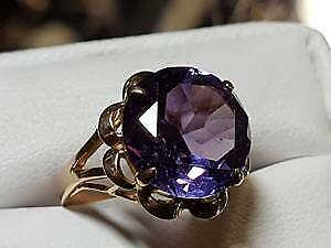 Amethyst 14k gold ring $750