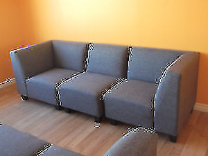 SPECIAL! 5 PC MODULAR GREY COUCH & LOVESEAT - USED 3 WEEK London Ontario image 4