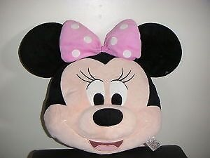 DISNEY STORE MINNIE MOUSE BIG FACE CUSHION PILLOW SOFT TOY COMFORTER