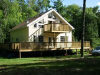 August. /Sept.big cottage for rent on beautiful lake Missasagon