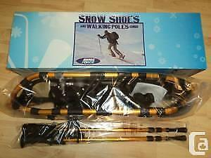 Swiss Force snow shoes and walking poles