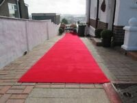 Plain-Red Aisle Carpet Runner