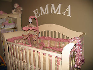 Crib bedding - custom made