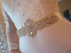 Vintage Inspired Crystal Belt on Satin Sash!