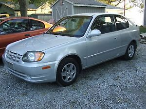 2003 Hyundai Accent Coupe (2 door)Low Km 143,600