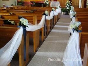 Church and Outdoor Ceremony  Wedding Decor, Pew Bows