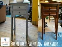 Craft Classes - Furniture Painting. Learn Shabby Chic using Chalk Paint. Geormetric and Flat finish