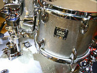 Drum Yamaha OAK custom silver sparkle MINT avec hardware complet