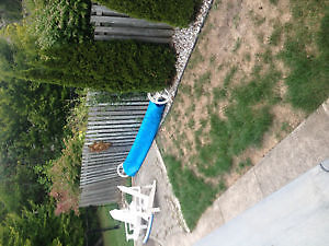 pool cover and roller