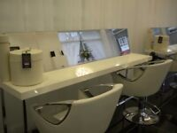 MALETTI MIRRORED SALON WORK TABLES X( 2)WAS £900 NOW! £275 EACH ONO