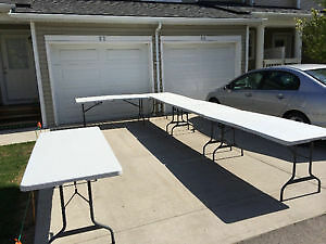 Tables For Rent - 6 Foot, Folding, with Handle, Quality Tables!