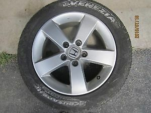 Set of Civic 5 bolt Aluminum rims with tires