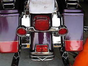 Chrome Fender Saddlebag Filler Panels - 1993-2008 Harley touring