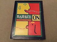 Babble On board game the game that makes sense of nonsense