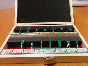 13 Piece router bits box *Missing one