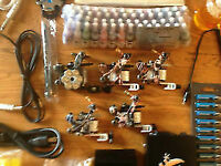 tattoo kit c/ w everything plus 5 guns and 54 colors $250.00