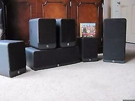 YAMAHA RX-V677 amp plus Q Acoustic 2000 series 5.1 speakers plus main speaker stands