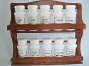 Vintage Wood Spice Rack