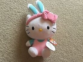 TY Beanie Babies Hello Kitty Easter Bunny plush toy Brand New
