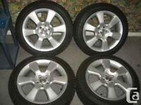 """4 factory toyota 17"""" rims and tires"""
