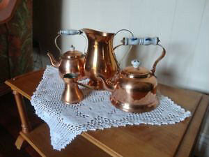 Brass Tea Set with Food Warmer