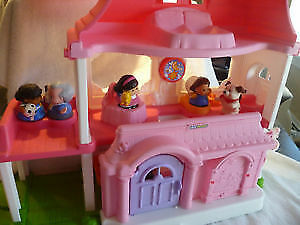 2 Fisher Price Little People Sets - Pink House/Van & Zoo