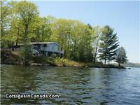 Lakefront cottage for rent August and Labour Day weekend