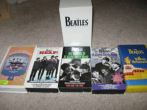 Beatles-VHS Set-Hard Days/Help/Making of/ Magical/Yellow/poster