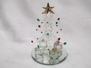Glass Vintage Murano Hand Blown Glass Christmas Tree Gold Interior