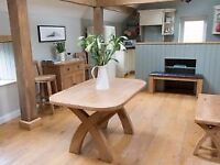 Solid Oak Oval Kitchen Table