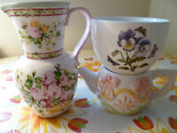 Flower Jug, Bowl, and Creamer