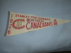 Montreal Canadian 1976 Stanley cup playoff pennant