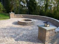 Interlock, retaining walls, concrete pads, brick, block, stone