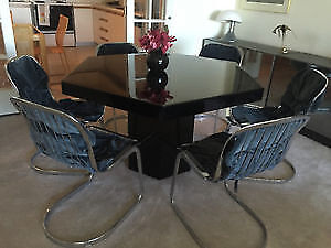 6 Italian CIDUE Chairs~& Table~1970s HIGH END~WILLY RIZZO!