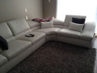 NATUZZI SECTIONAL CREAM COLOR COUCH – 100% GENUINE HIGH QUALITY