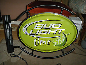 Bud Light Lime Double Sided Lighted Beer Sign.