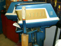 Two Awesome Vintage Outboards 10HP Johnson Seahorse Evinrude Jub