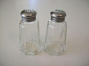Glass Salt And Pepper Shakers Ebay