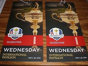 Ryder Cup 2016 Tickets - Tuesday & Wednesday Int. Pavilion