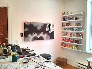 Atelier d'artiste à louer au Plateau Mile-end - artist studio