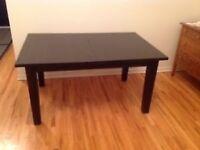 Extendable table STORNÄS Brown-black