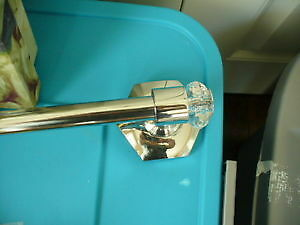 Lovely Crystal + stainless  towel rack