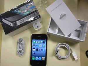 Apple Iphone 4s Black Bell & Virgin Mobile 16GB New USB Charger